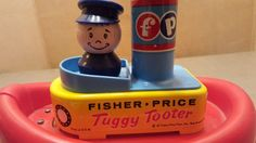 Vintage 1967 Fisher-Price Tuggy Tooter Boat Ship 139 Toy #FisherPrice