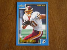 Stephen Alexander Washington Redskins TE Card No 49 (FB49) 1999 Score Football Card - for sale at Wenzel Thrifty Nickel ecrater store
