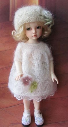 Hand Knit Doll Outfit Set for Doll 10 by Galina2011 on Etsy