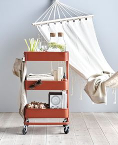 RÅSKOG utility cart 3 ways - movable chill station, garden station, or art station!