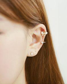 Generic Korean_sweet_style_full_drill ear Nail earrings_a_Pearl hair clip earrings Earring eardrop_fake ear bone_ clip ear jewelry women girls_Korean_style_of tide Clip On Earrings, Women's Earrings, Diamond Earrings, Butterfly Earrings, Ear Jewelry, Sammy Dress, Sweet Style, Hair Clips, Korean Fashion