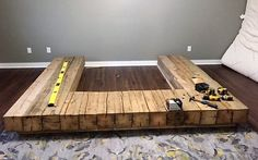 The Epic Barn Beam Bed Frame! - APS design Bed frames & bed framesHasena, Bed Top Line Advance 18 Gina Almeno L, cm, HasenaHasenaThe Epic Barn Beam Bed Frame! Bed Frame Design, Bedroom Bed Design, Home Room Design, Home Interior Design, Bed Frame With Storage, Diy Bed Frame, Bed Frames, Diy Platform Bed, Simple Bed