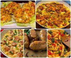 Naleśniki zapiekane z mięsem i warzywami - Blog z apetytem Party Snacks, Gnocchi, Mozzarella, Baked Potato, Mashed Potatoes, Pizza, Chicken, Dinner, Baking