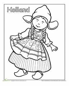 Dutch traditional clothing coloring page worksheet , Dutch Traditional Clothing Coloring Page Worksheet , Hallo Wereld: Kleurplaten Source by paulaprevoo Detailed Coloring Pages, Colouring Pages, Adult Coloring Pages, Coloring Sheets, Coloring Books, Mandala Coloring, Sue Sunbonnet, Harmony Day, World Thinking Day