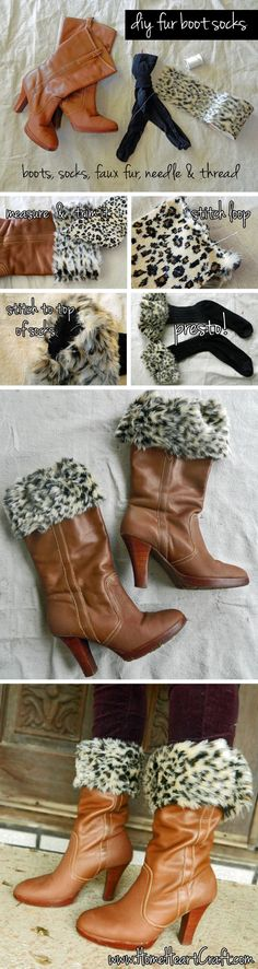 Furry Socks /  14 DIY Boots That Were Made For Walking (via BuzzFeed)