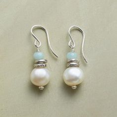SERENITY PEARL EARRINGS - Discover the cool elegance of our handmade Serenity Pearl Earrings.