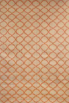 dhurry beige and orange geometric rug | Chhatwal & Jonsson | Dhurry Wool New Geometric Beige/Orange Matta ...