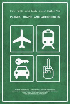 Poster for Planes, Trains and Automobiles by Scott Saslow. #posterdesign #stevemartin #johncandy #johnhughes #planestrainsandautomobiles #movieposter #comedy #graphicdesign #fanart #alternativefilmposter #alternativemovieposter