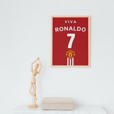 Manchester Football, Football Shirts, Etsy App, Sell On Etsy, Ronaldo, Wall Prints, Marketing And Advertising, Unique Gifts, Classy