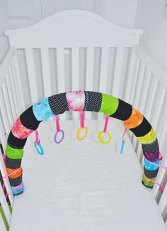 DIY with fabric scraps, ribbon, and a pool noodle!