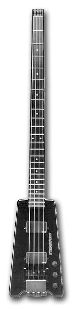 You've no idea how space age the Steinberger bass looked when it landed on the scene in the 80's. Compared to other basses of the day from Fender, Rickenbacker and various MIJ brands it was shockingly minimal: an extended, carbon fiber neck in black.