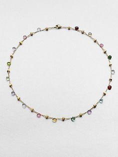 Marco Bicego - 18K Gold Semi-Precious Multi-Stone Beaded Necklace