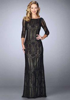 La Femme Evening 24855 Black Mother Of The Bride Dress