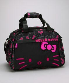 Pink & Black Hello Kitty Weekender http://www.bestofhellokitty.com/hello-kitty-happy-birthday-ideas-tips-childs-birthday/