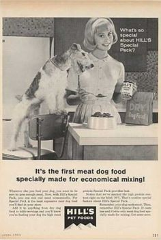 Hill's Special Pack Dry Dog Food, 1960s.