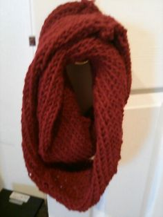 My first infinity scarf I have made I want to make more and if people like them try an sell them.