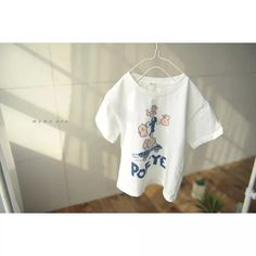 Popeye Tee – Imarya kids - imarya.com Stylish Kids Fashion, Summer Outfits, Girl Outfits, Summer Trends, Girls Dresses, T Shirts For Women, Tees, Swimwear, Cotton