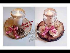 Jednoduché podzimní svícny/ diy easy autumn candlejar - YouTube Tea Lights, Easy Diy, Candles, Create, Christmas, Youtube, Gardening, Autumn, Home Decor