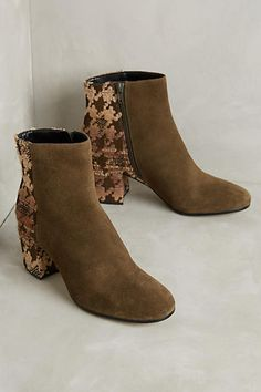 Miss Albright Colorblocked Houndstooth Booties