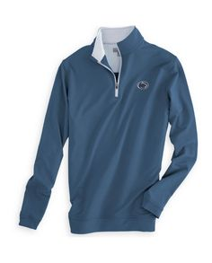 Our best-selling quarter-zip pullover is the perfect way to show your Penn State pride with the logo you love. Designed in our signature stretch French terry, which wicks away moisture to keep you dry and comfortable in all conditions, Details & Fit Athletic fit |We recommend ordering next size up Men's 89% microfiber polyester/11% spandex pulloverPenn State Nittany Lion Logo embroidered on the left chest Stretch French terryMachine wash cold with like colors; tumbl...