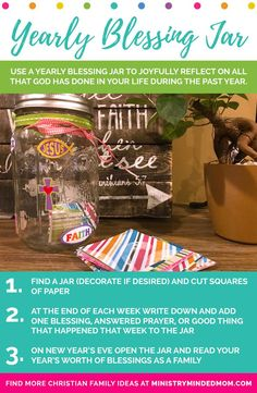 Learn how to make a gratitude jar with these blessings jar instructions. Putting together a family count your blessings jar is fun and easy to do! Family Scripture, Prayer For Family, Gratitude Jar, Attitude Of Gratitude, Family Rules, Family Goals, Christian Families, Christian Wife, Christian Living