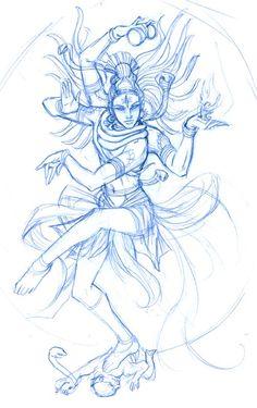 Beautiful Drawing Of Lord Shiv