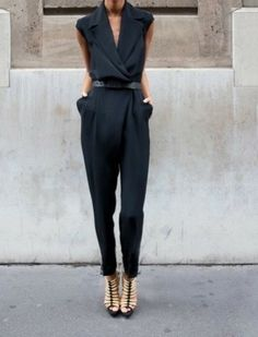 street style, all black