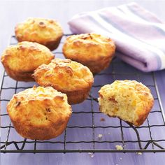 Cheesy Bacon & Corn Muffins