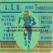Tennessee Football Drink Coasters-1959 vs. LSU. Tennessee football gifts! #gifts