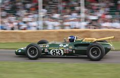 This Ford-engined Lotus 38 is the sister car to the one that motor racing legend Jim Clark drove to victory in the 1965 Indy500