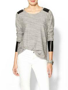 Leif Vegan Leather Detailed Sweatshirt