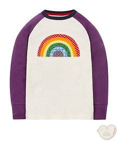 t-shirts are a fun essential to add to your little girls wardrobe and this colourful tee is perfect for the little one's who are part of the little bird fan club stashed Little Bird By Jools, Little Ones, Little Girls, Mothercare Baby, Girls Wardrobe, Sewing For Kids, Rainbow, Tees, Sweatshirts