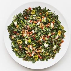 """Here's your answer to the question: """"What can I make on Sunday night that will taste great for my 10:30 a.m. desk lunch on Wednesday?"""" This is precisely the work lunch you always wish you had packed, with lots of lentils to keep you full 'til at least 3 p.m., kale (for health!), salty olives, crunchy nuts, and just the right amount of cheese. New Recipes, Dinner Recipes, Favorite Recipes, Popular Recipes, Cooking Recipes, Brunch Recipes, Quick Recipes, Lentil Salad Recipes, Kale Recipes"""