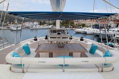 """""""Mamma Mia"""" Sunreef 70 crewed catamaran in Greece"""