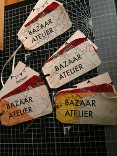 Home made labels or tags to personalise shopping bags!   #labels #tags #diy