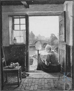 C. Henrik Nordenberg Nettenboetster  Sotheby's 1990-02-14, 71 #NoordHolland #Volendam