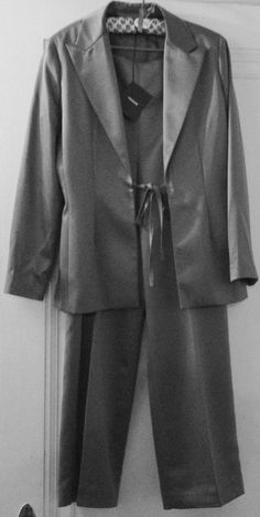 Prague Women's Silver Sateen Evening Pantsuit...view it here.. http://stores.ebay.com/2014ctayltreasures