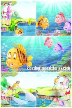 The Three Fishes Story with Moral: When you see the danger coming, act immediately. Short Moral Stories, Moral Stories For Kids, Short Stories For Kids, Picture Story For Kids, Bubble Wrap Crafts, Kindergarten Learning, Learning Activities, Preschool, Life Cycle Craft