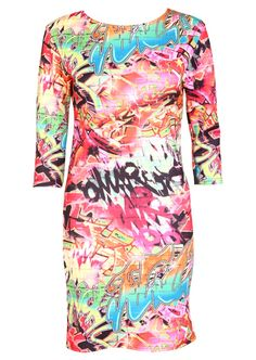 Graffiti Print Bodycon Dress - Womens Clothing Sale, Womens Fashion, Cheap Clothes Online   Miss Rebel