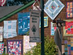 Sisters Outdoor Quilt Show - this is the largest outdoor quilt show in the world, held on the second Saturday of July every year. You can enjoy exhibits, contests, and activities all related to the art of quilting. Or just enjoy the myriad of colorful quilts, all hanging outside local businesses throughout the town of Sisters.