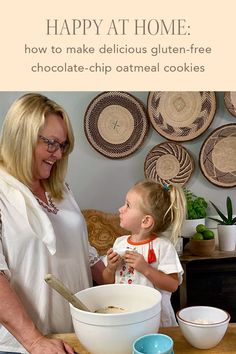 Tiffany from our Creative team shares her favorite recipe for delicious Gluten-Free Chocolate-Chip Oatmeal Cookies, which she loves to make with her daughter and granddaughter. Oatmeal Chocolate Chip Cookies, Helpful Hints, Tiffany, Gluten Free, Daughter, Favorite Recipes, Creative, How To Make, Blog