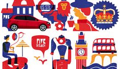 """Murmansk-based Russian illustrator Iv Orlov produced a series of cheerful drawings for car-maker Volkswagen that depict its """"Weekenders"""" in various European countries."""