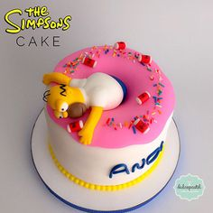 torta simpsons medellín dulcepastel Pizza Birthday Cake, Pizza Cake, Birthday Cakes For Men, Bread Cake, Delicious Cake Recipes, Yummy Cakes, Simpsons Cake, Duff Beer, Teen Cakes