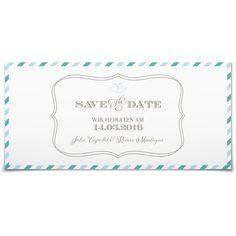 Save the Date Par Avion in Meergruen - Postkarte lang #Hochzeit #Hochzeitskarten #SaveTheDate #elegant https://www.goldbek.de/hochzeit/hochzeitskarten/save-the-date/save-the-date-par-avion?color=meergruen&design=3a5d1&utm_campaign=autoproducts