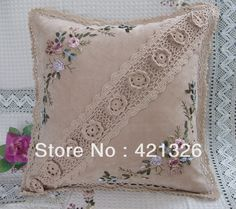 Wonderful Ribbon Embroidery Flowers by Hand Ideas. Enchanting Ribbon Embroidery Flowers by Hand Ideas. Crochet Cushions, Crochet Pillow, Sewing Pillows, Diy Pillows, Pin Cushions, Cushion Embroidery, Silk Ribbon Embroidery, Crochet Home, Hand Crochet