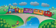 school wall murals | ... » Train Up A Child – A NEW Bible Story Mural – Now Available