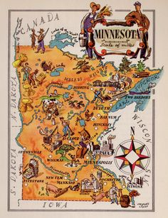 Map Of Minnesota Minnesota Southern And Spaces - Map of states in usa