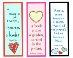 Valentine's Day bookmarks!  Print, laminate, and stick in a book.  Great gift for kids!!