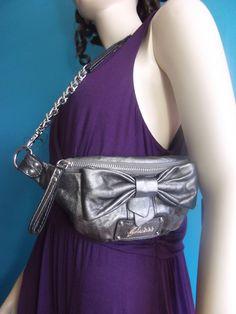 GUESS Silver Shoulder Purse BOW TIE BAG $55