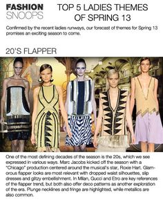 WOMEN'S TOP 5 TREND THEMES SPRING 2013 FASHION SNOOPS